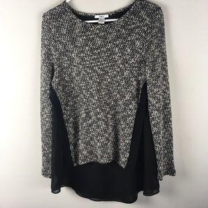 Bar III Mixed Media Layered Sweater -E